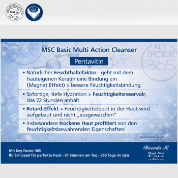 MSC Basic Mutli Action Cleanser Vorteile Pentavitin