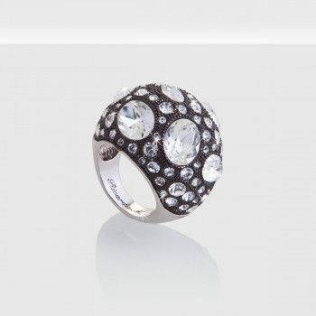 Luxury Woman Ring, Schmuck, Ring, Silber, De Luxe KristalleRhodiniert