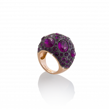 Luxury Woman Ring, Schmuck, Ring, De Luxe Kristalle pink