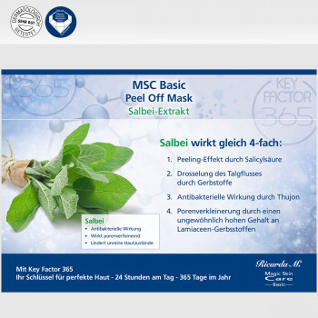 MSC Basic Peel Off Salbeiextrakt