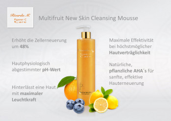 Multifruit New Skin Cleansing Mousse , Wirkung