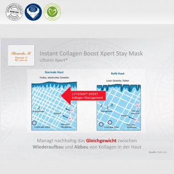 Instant Collagen Boost Xpert Stay Mask, Liftonin Xpert, Veränderung