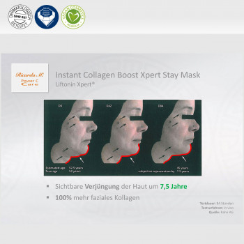 Instant Collagen Boost Xpert Stay Mask, Liftonin Xpert, Sichtbare Verjügung