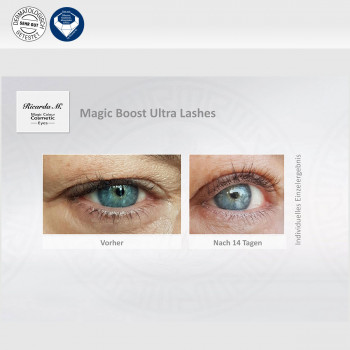 Eyes Magic Boost Ultra Lashes, optischer Unterschied