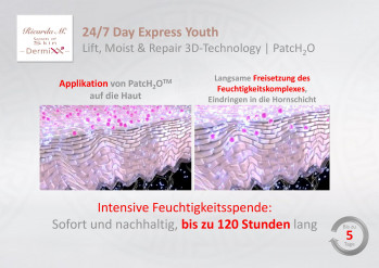 24/7 Day Express Youth, Lift, Moist & Repair 3D-Technology, Passioline, PatcH2O, Feuchtigkeitsspende, Effekt