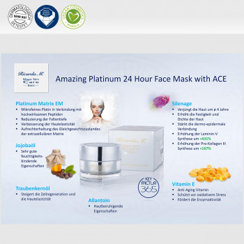 Amazing Platinum 24 Hour Face Mask with ACE, Inhalt, Erkläung, Wirkung