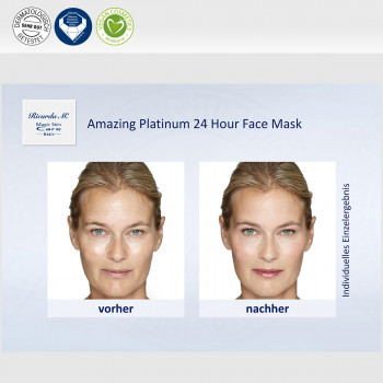 Amazing Platinum 24 Hour Face Mask, Unterschied, optische Wirkung
