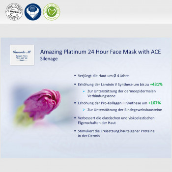 Amazing Platinum 24 Hour Face Mask with ACE, Platinum Matrix EM, Silenage, Wirkung