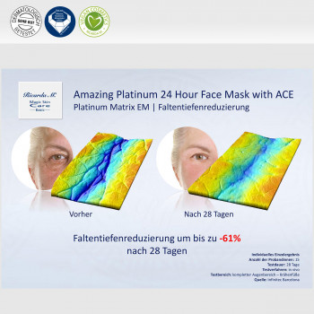 Amazing Platinum 24 Hour Face Mask with ACE, Platinum Matrix EM, Faltentiefenreduzierung, Unterschied