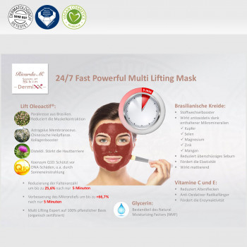 24/7 Fast Powerful Multi Lifting Mask, Lift Oleoactif, Brasilianische Kreide, Wirkung