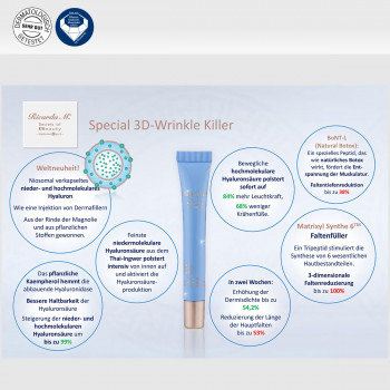 Special 3D-Wrinkle Killer, Inhalt, Wirkung