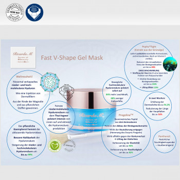 Fast V-Shape Gel Mask, Pepha-Tight, Vegan Cosmetics, Inhalt, Wirkung