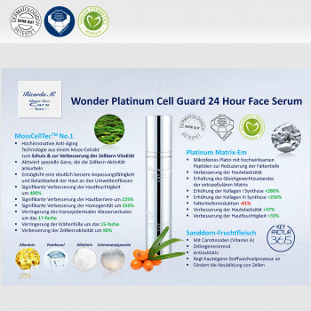 Wonder Platinum Cell Guard 24 Hour Face Serum, Inhalt, Wirkung