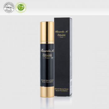 Miracle Beauty Power Serum Foundation, Gesichtsgrundierung, Airlessspender, Verpackung