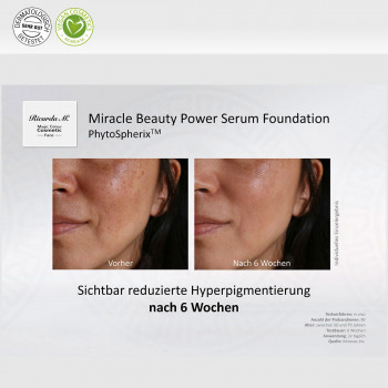 Miracle Beauty Power Serum Foundation, PhytoSpherix, Vergleich, Verbesserung