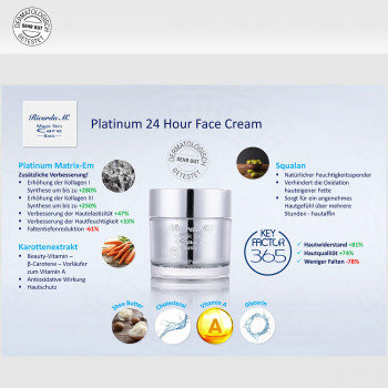 Platinum 24 Hour Face Cream, Inhalte, Wirkung