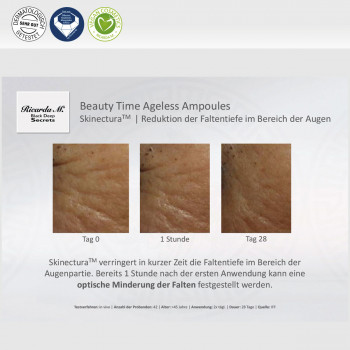 Black Deep Secrets Beauty Time Ageless Ampoules Skinectura Reduktion der Faltentiefe