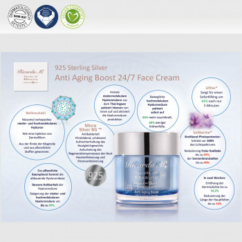 Gesichtscreme 925 Sterling Silver Anti Aging Boost 24/7 Face Cream Vorteile