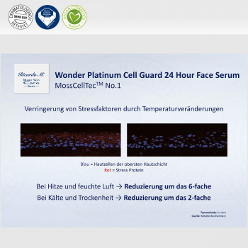 Gesichtsserum MSc Platinum Cell Guard 24 Hour Face Serum Verringerung von Stressfaktoren