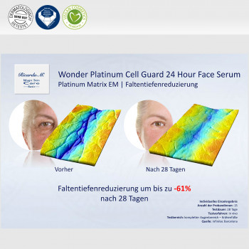 Gesichtsserum MSc Platinum Cell Guard 24 Hour Face Serum Faltenreduzierung