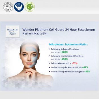Gesichtsserum MSc Platinum Cell Guard 24 Hour Face Serum mikrofeines Platin