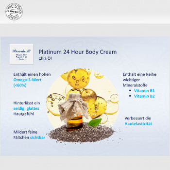 Körpercreme MSC Platinum Body Cream Chia Öl
