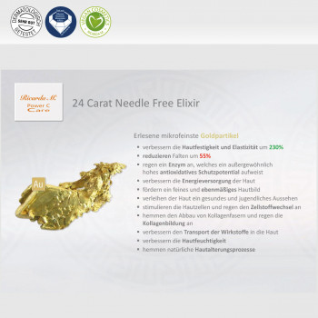 24 Carat Needle Free Elixir – Lift, Moist & Protect - Colloidales Gold, Wirkung Goldpartikel