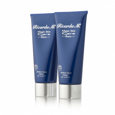 24 Hour Hand Cream Duo, Pflegeset, Handcreme, dunkelblaue Tube