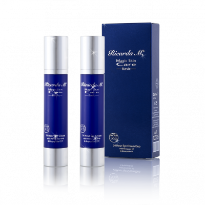 24 Hour Eye Cream Duo, Pflegeset, Eye Cream, duneklblaue Spender