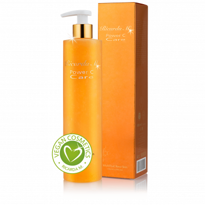 Multifruit New Skin Cleansing Mousse , orangefarbener Spender, Vegan Cosmetics