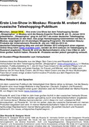 Ricarda M. erobert russiche Teleshopping Publikum