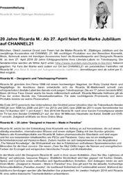 Ricarda M. 20 Jahre Markenjubiläum